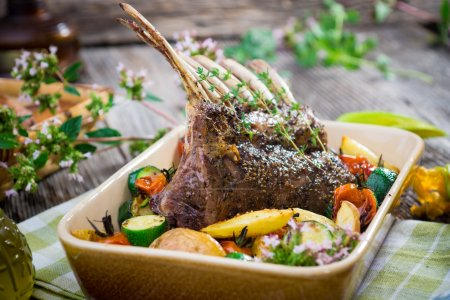 Grilled Rack of Lamb chops