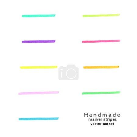 Handmade marker stripes set 2