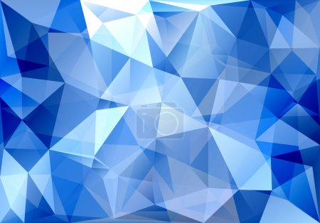 Illustration for Abstract triangle blue background - Royalty Free Image