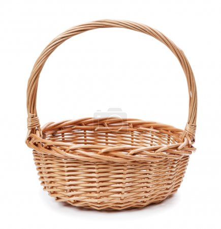 Basket isolated on white background...