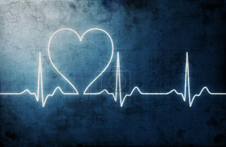 Photo for Grungy heart beat - Royalty Free Image