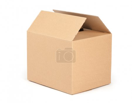 Photo for Cardboard packaging box isolated on white background - Royalty Free Image