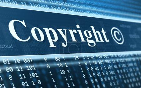 Copyright message concept