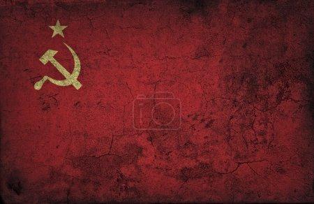 Grunge USSR flag...