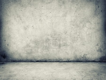 Photo for Gray concrete wall and floor - Royalty Free Image