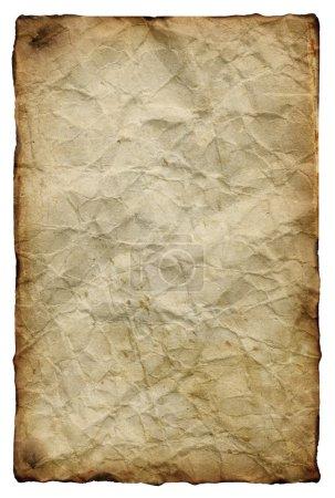 Photo pour Vieux papier froissé jauni - image libre de droit