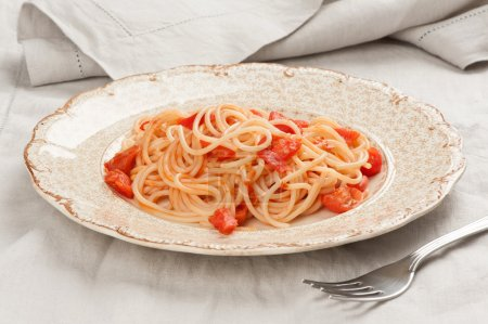 Photo for Spaghetti with tomato sauce - Royalty Free Image