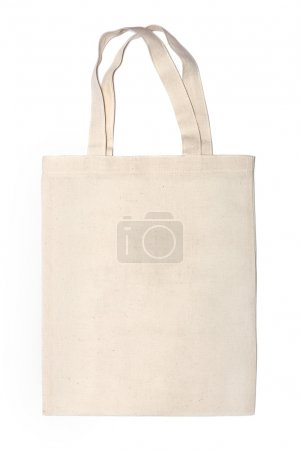Photo for Cotton eco bag on white background - Royalty Free Image