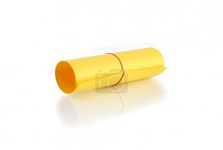 Roll Of Yellow Paper