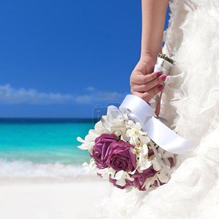 Wedding bouquet in bride's hand
