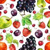 Fruit seamless texture watercolor