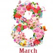 Greeting card with March 8...