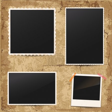 Illustration for Set of vintage retro photo frames - Royalty Free Image