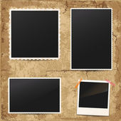 Set of vintage retro photo frames