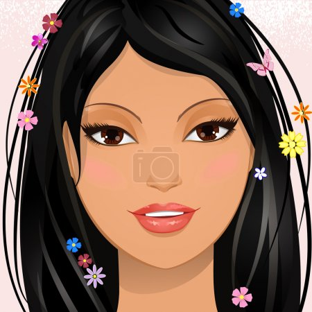 Illustration for Portrait of a lovely girl - Royalty Free Image