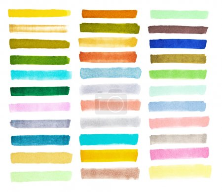 Set colorful watercolor brush