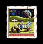 Razítko v burundi ukazuje kosmickou loď