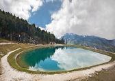 Pohled na watzmann v Bavorských Alpách