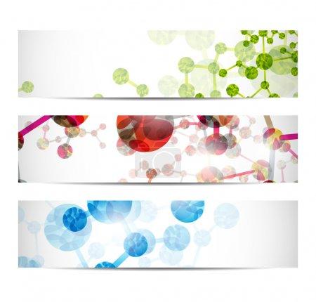 Illustration for Dna banner - Royalty Free Image