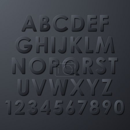Illustration pour Ensemble alphabet - image libre de droit