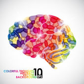 Human brain vector abstract background