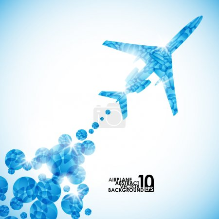 Illustration for Airplane, vector abstract background - Royalty Free Image