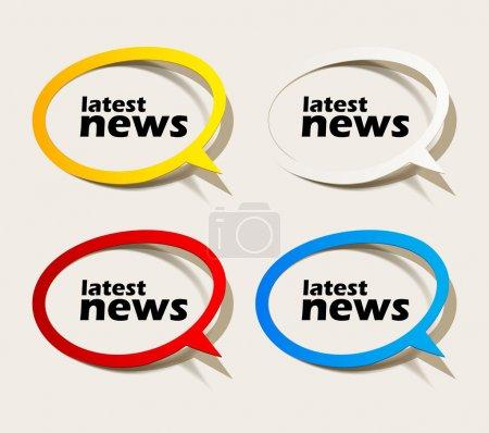 Illustration pour Dernières nouvelles, des éléments de conception réaliste - image libre de droit