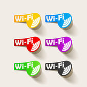 Svobodného pásma wi-fi, nálepka