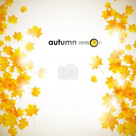 Illustration pour Fond d'automne - image libre de droit