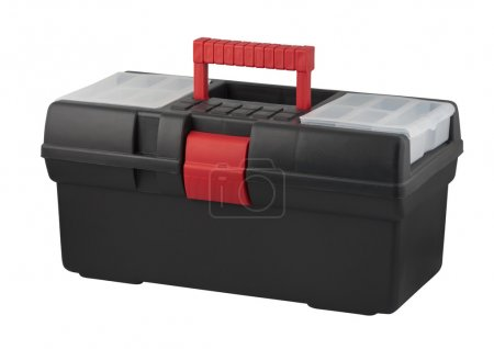 Tool box with carrying handle.