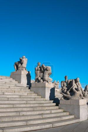 Photo pour Parc de sculptures Vigeland. Oslo, Norvège . - image libre de droit