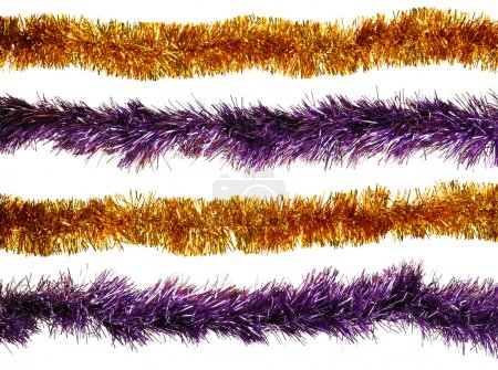 Photo for Christmas artificial tinsel decoration - Royalty Free Image