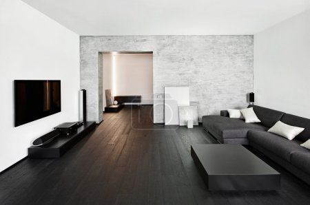 Photo for Modern minimalism style drawing-room interior - Royalty Free Image
