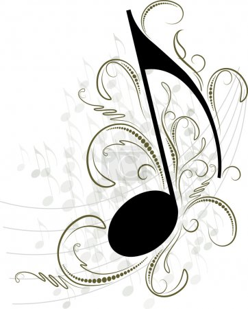 Illustration for Music note for your design. - Royalty Free Image
