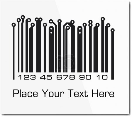 Illustration for Bar code in PCB-layout style. Vector ilustration. - Royalty Free Image
