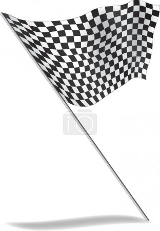 Chequered flag flying.