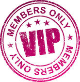 Rubber stamp Vip