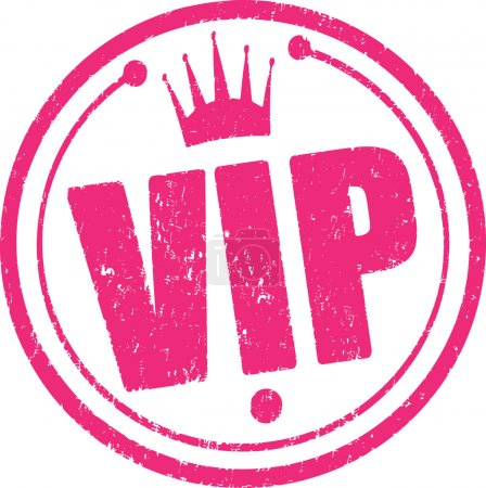 Rubber stamp Vip.