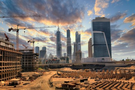 Photo for Grandiose construction in Dubai, the United Arab Emirates - Royalty Free Image