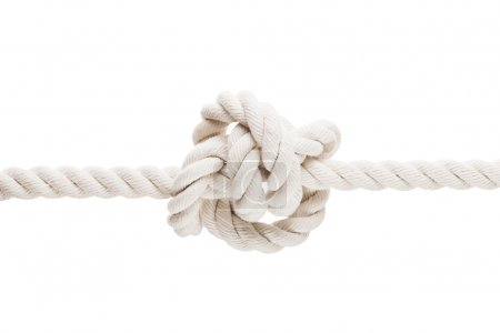 Tied knot on rope or spring