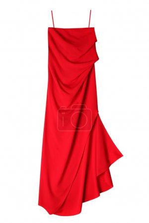 Photo pour Femmes de luxe rouges robe isolé sur fond blanc - image libre de droit