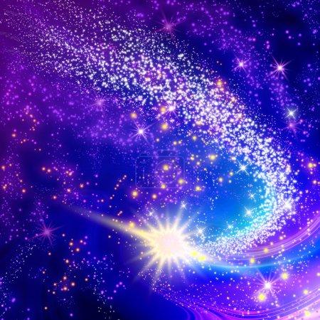 Foto de Cometa volador en el espacio - Imagen libre de derechos