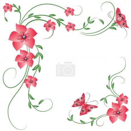Illustration for Floral ornament - Royalty Free Image
