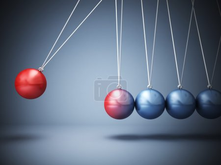 Photo for 3d image of classic newton cradle - Royalty Free Image