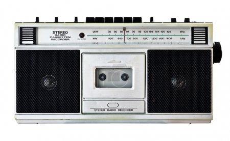 Vintage radio isolated on white...