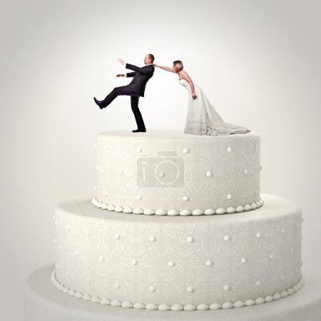 wedding funny cake