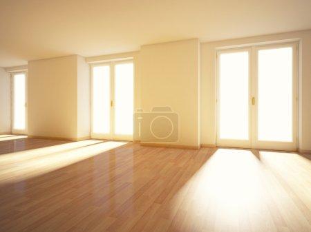 Photo pour Image 3D de l'intérieur de la maison - image libre de droit