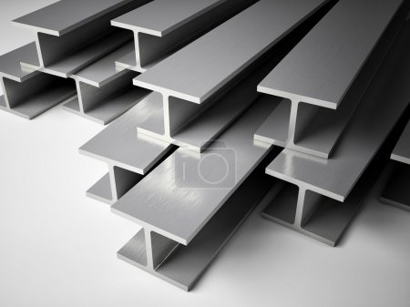 Photo for 3d image of Structural steel - Royalty Free Image
