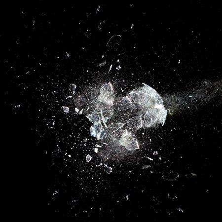 explosion de verre