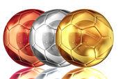 Kovová koule fotbal Brazílie